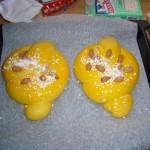 Le colombe pronte per il forno